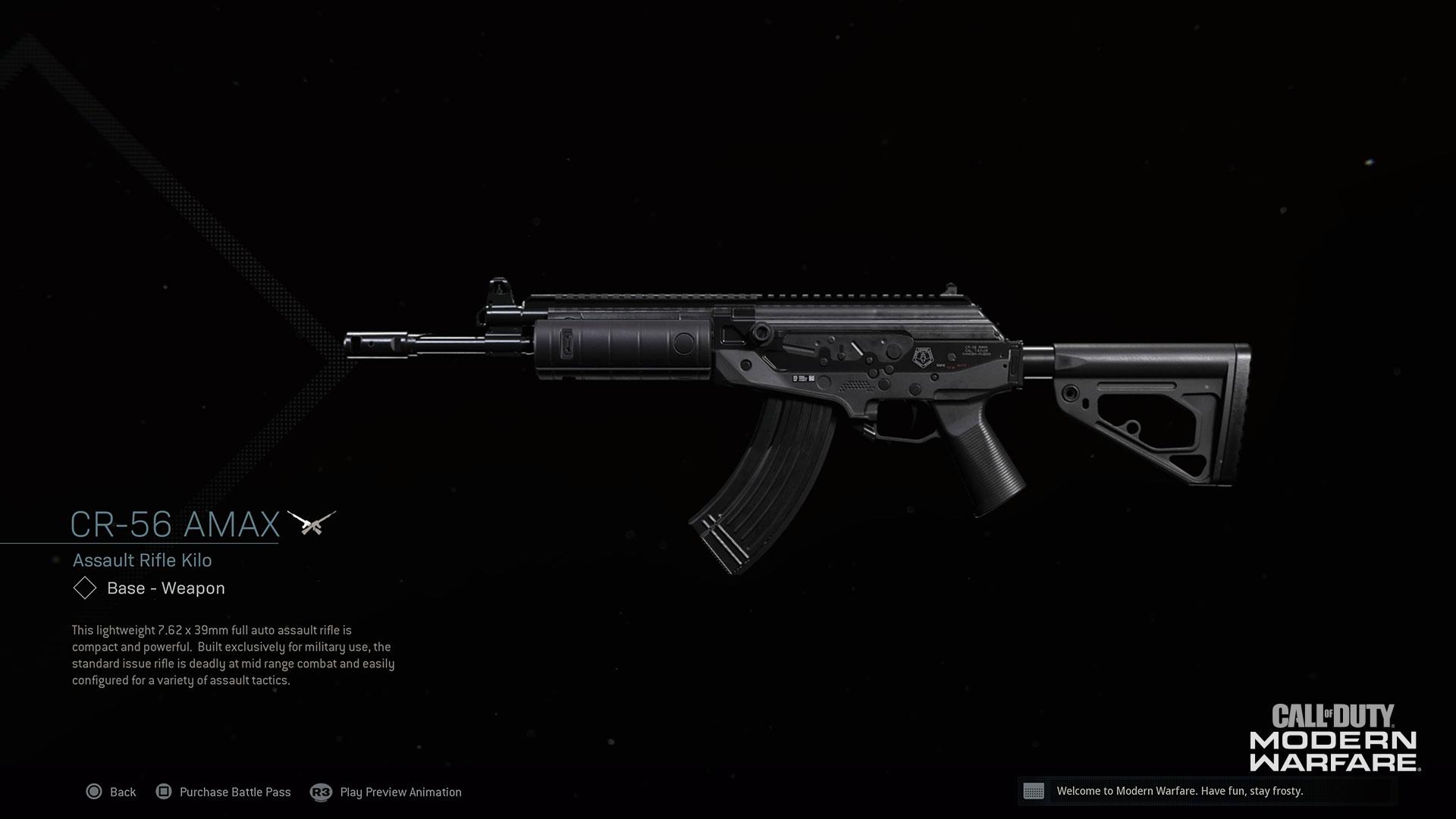 Modern Warfare® Weapon Detail: CR-56 AMAX