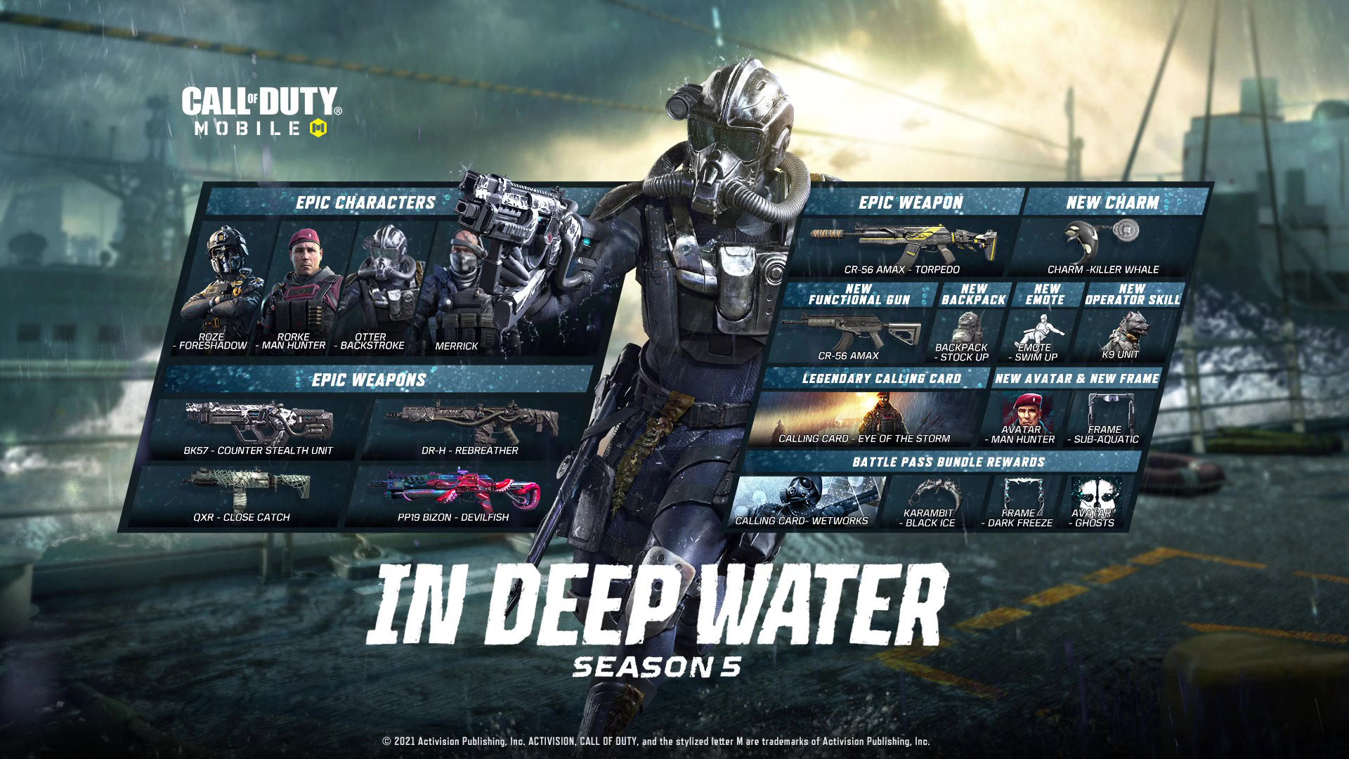 CALL OF DUTY MOBILE Season 5 In Deep Water coming on June 28