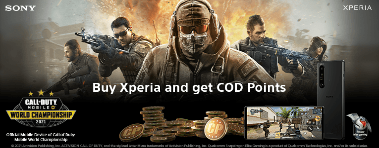Buy Xperia and get COD Points