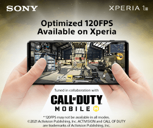 Optimized 120 FPS available on Xperia
