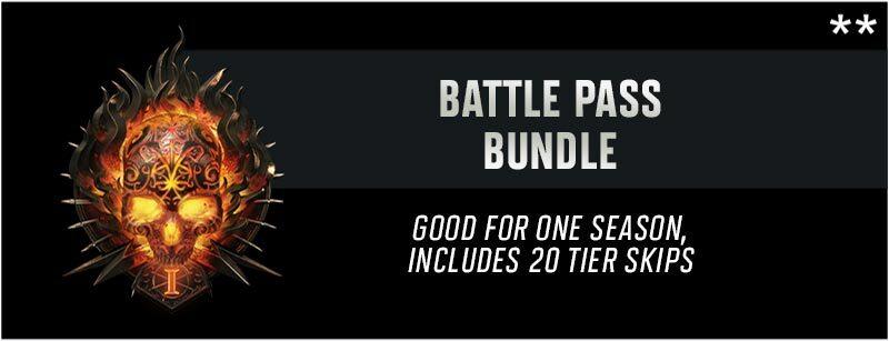 Battle Pass Bundle. Good for one season, includes 20 tier skips