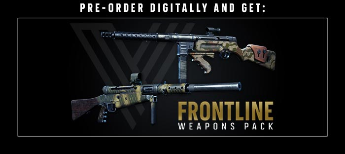 Pre-order digitally and get Frontline Weapons Pack